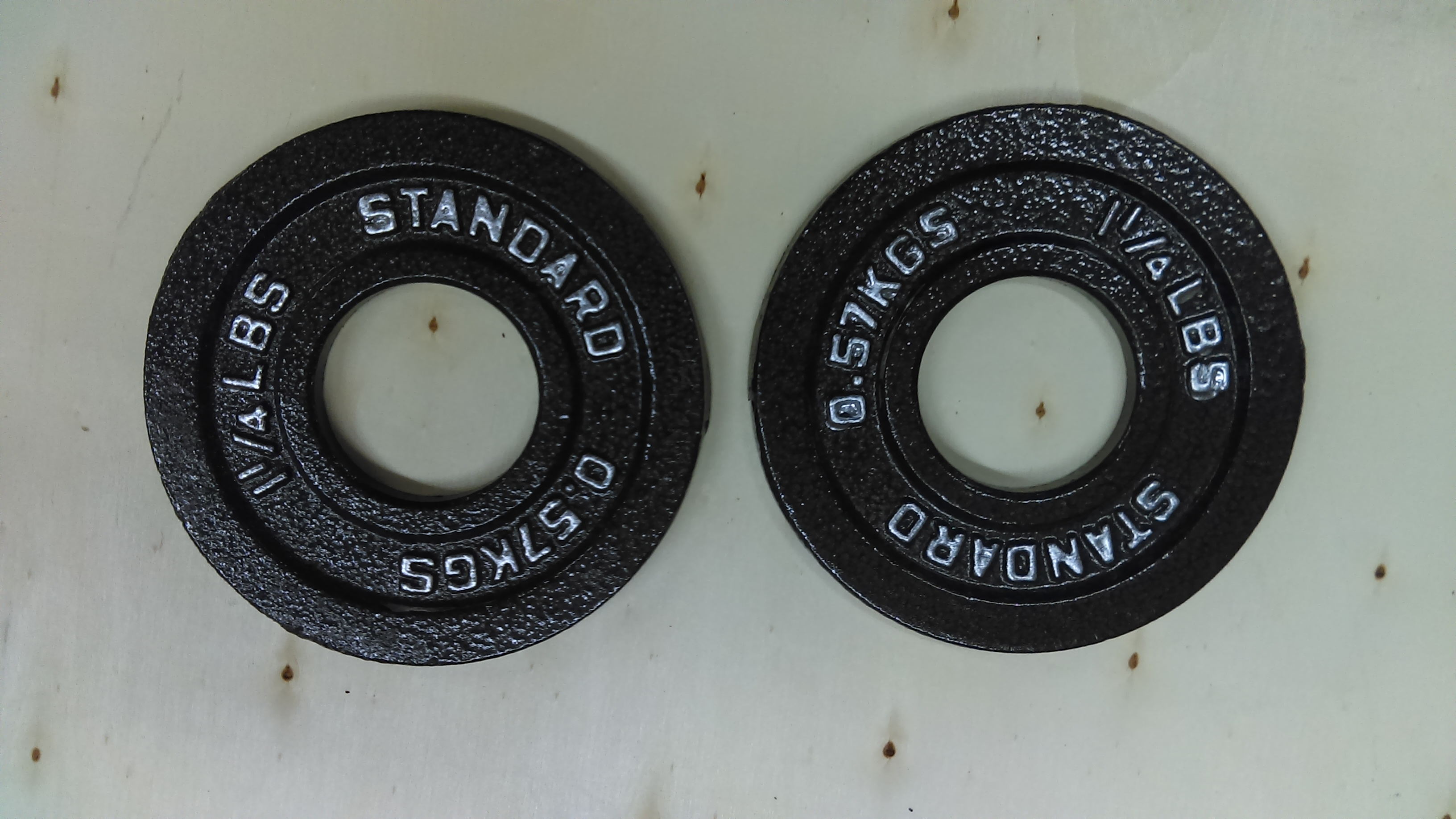 & Standard 1.25 pound Olympic weight plate set