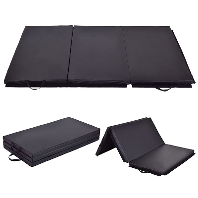 4x6 Gymnastics Folding Mat Black