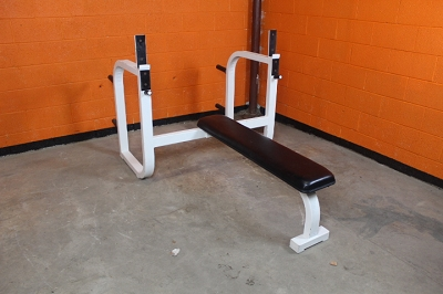 White Olympic Flat Bench - Used