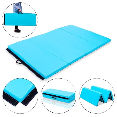 4x6 Gymnastics Folding Mat Light Blue