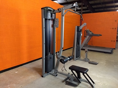Lat pulldown low row combo machine - Life Fitness - Used