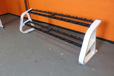 Precor two tier Dumbbell rack - used