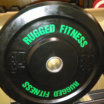 45 lb Rubber Bumper Plate (pair) - Rugged Fitness