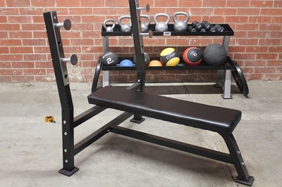Flat Olympic Bench - Black