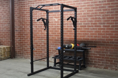 Rugged Fitness Power Cage with Mono Lift Attachment - New