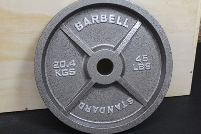 Standard Barbell 45lb Olympic Metal Plate - New