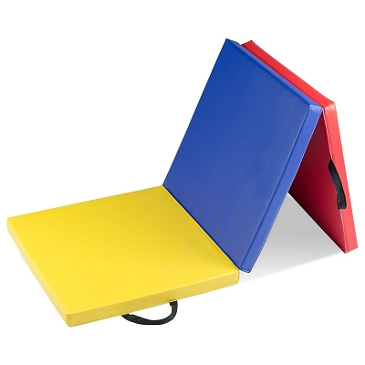 TriColor 6'x2' Gymnastics Folding Mat