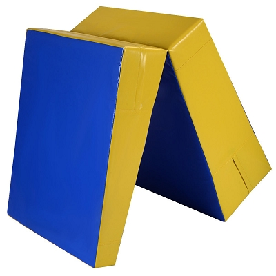 70x30x15 Folding Cheese Wedge - Yellow and Blue