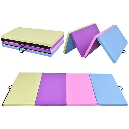 "4x8x2"" Pastel Multicolor Folding Cheer Mat"