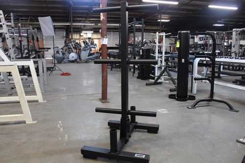 Bumper Plate Tree and Bar holder - Rugged Fitness
