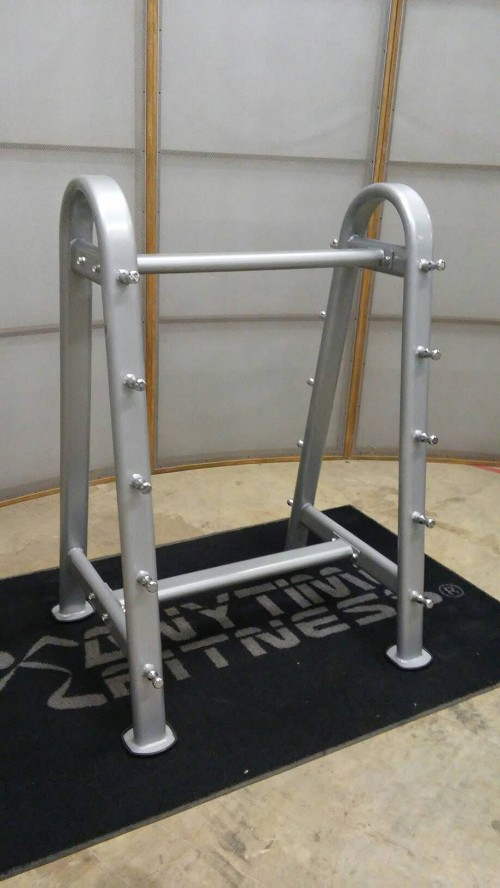 Rugged Fitness Silver Barbell Rack