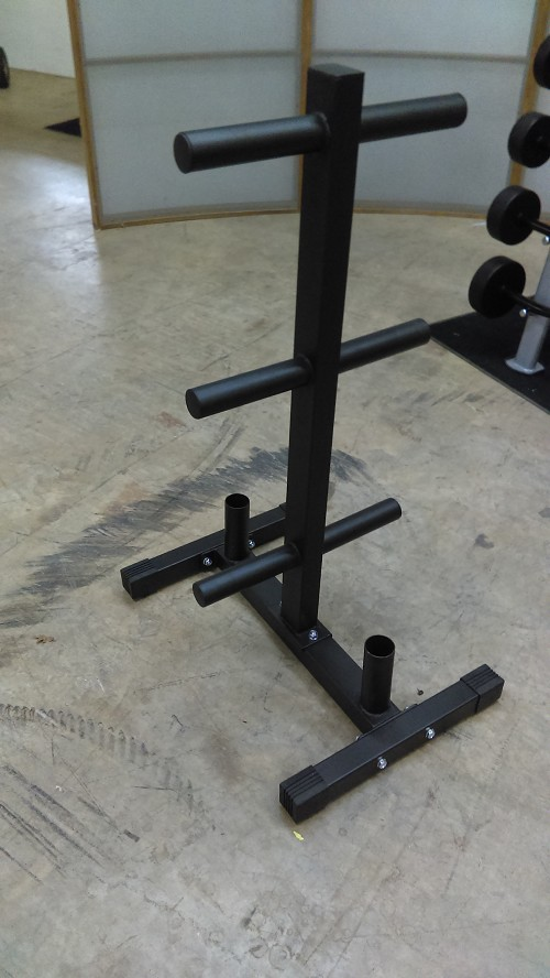 Olympic weight plate tree and bar holder - Rugged Fitness
