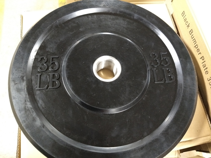 35lbs Olympic Bumper Plate - new