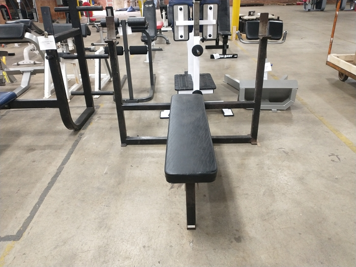 Black Flat Olympic Bench - Used