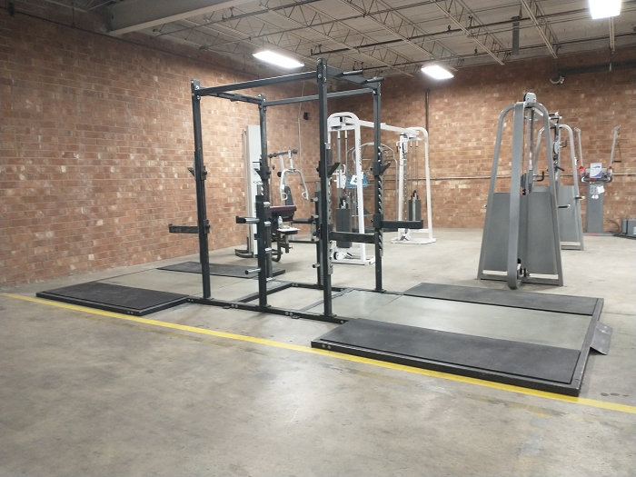 Double Sided Half Racks With Deadlift Platforms - Used