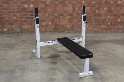 Olympic White Flat Bench - Used