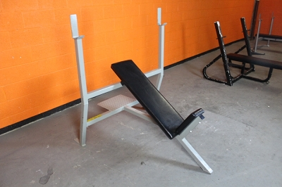 Silver Olympic Incline Bench - Used