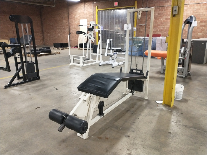 White Lying Leg Curl Machine - Used