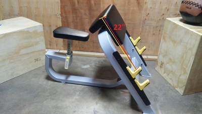Preacher Curl Bench - Ironclad - New